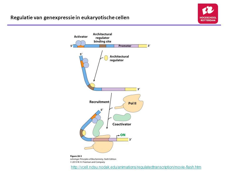 Regulatie van genexpressie in eukaryotische cellen