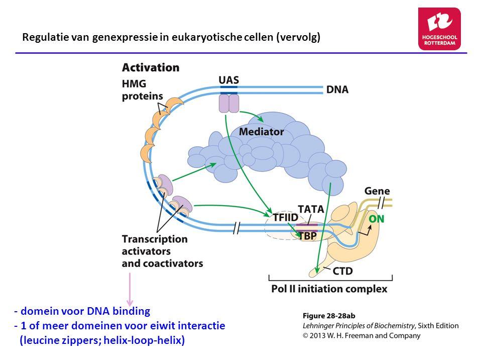 Regulatie van genexpressie in eukaryotische cellen (vervolg)