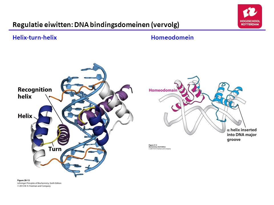 Regulatie eiwitten: DNA bindingsdomeinen (vervolg)