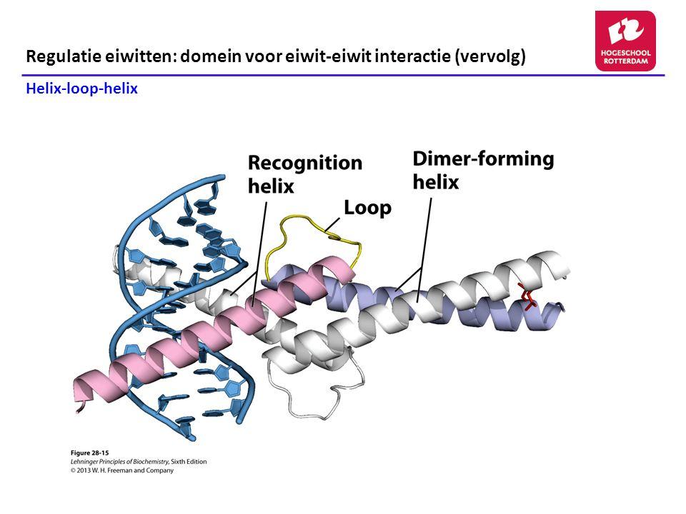 Regulatie eiwitten: domein voor eiwit-eiwit interactie (vervolg)