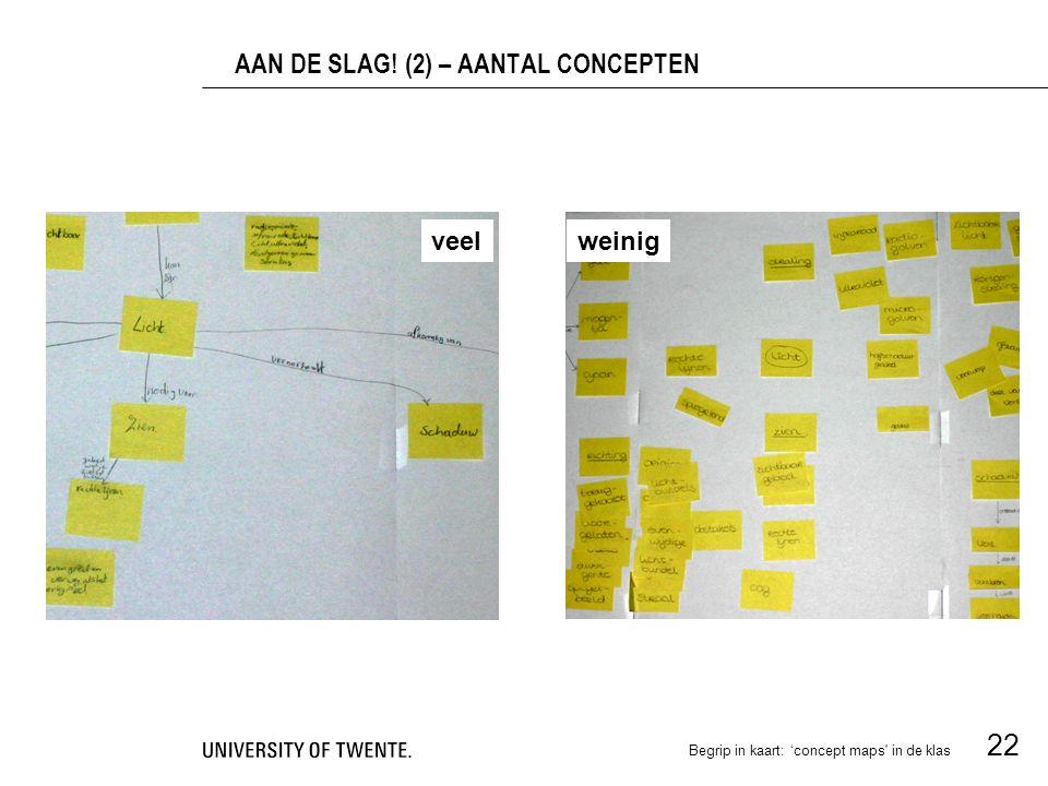 AAN DE SLAG! (2) – AANTAL CONCEPTEN