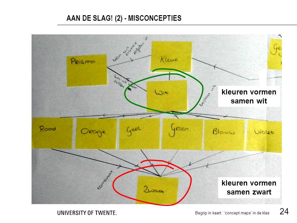 AAN DE SLAG! (2) - MISCONCEPTIES