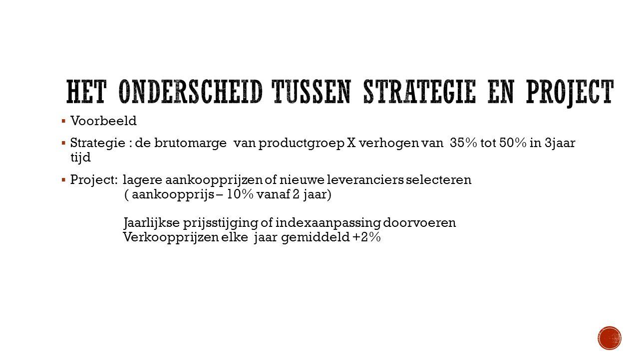 Het onderscheid tussen strategie en project