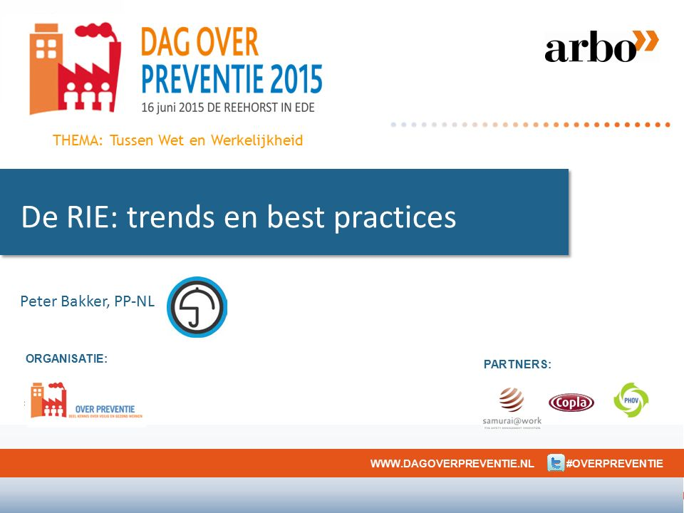 De RIE: trends en best practices