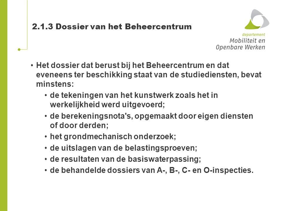 2.1.3 Dossier van het Beheercentrum
