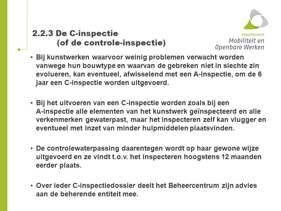 2.2.3 De C-inspectie (of de controle-inspectie)
