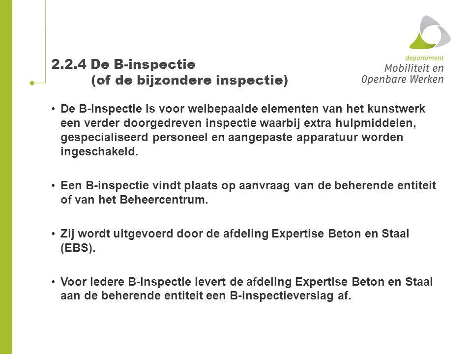 2.2.4 De B-inspectie (of de bijzondere inspectie)