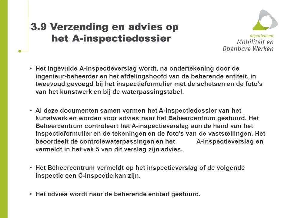 3.9 Verzending en advies op het A-inspectiedossier