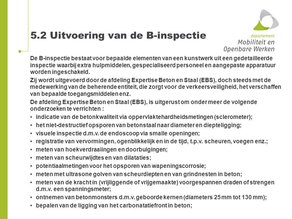 5.2 Uitvoering van de B-inspectie