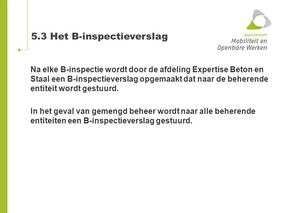 5.3 Het B-inspectieverslag