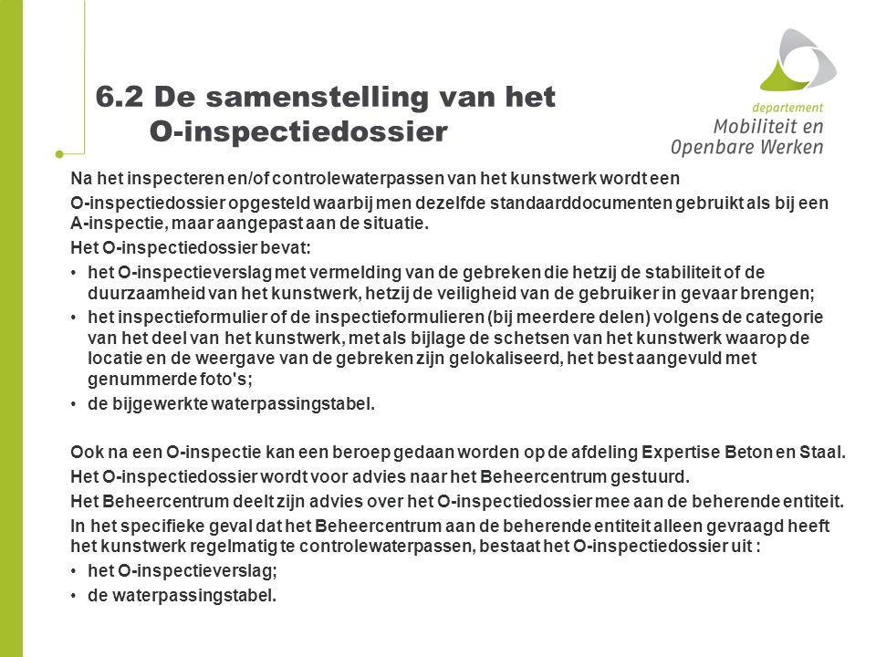 6.2 De samenstelling van het O-inspectiedossier