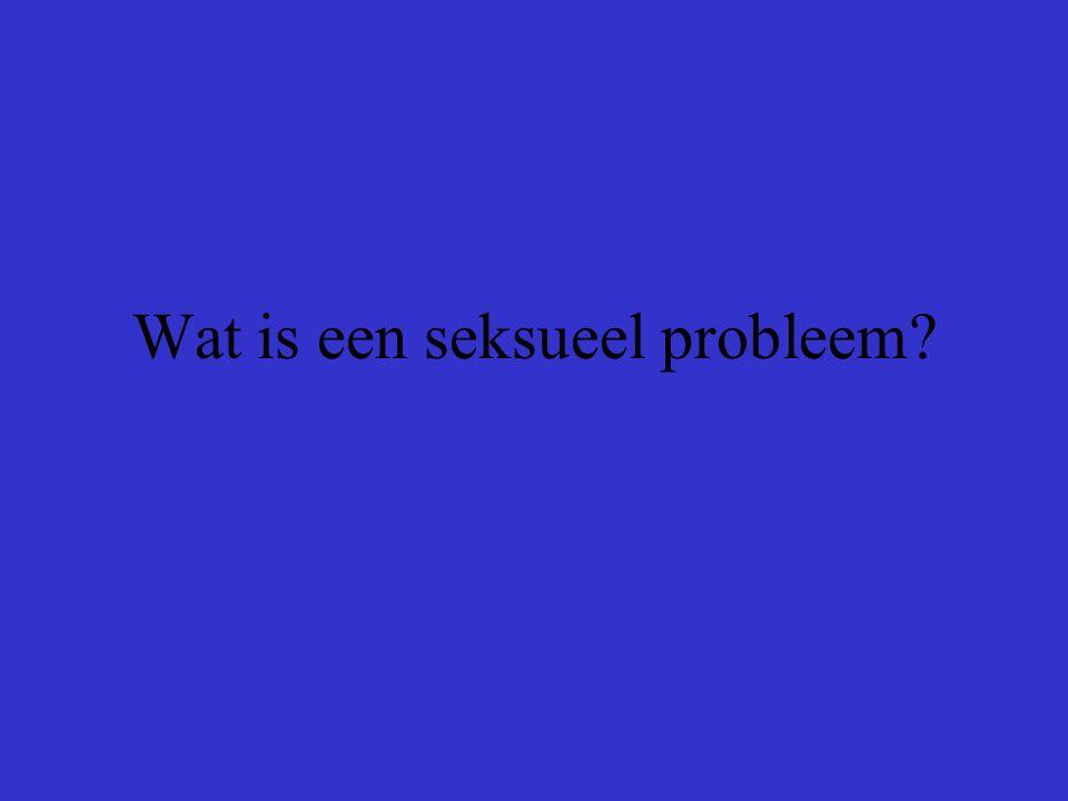 Wat is een seksueel probleem