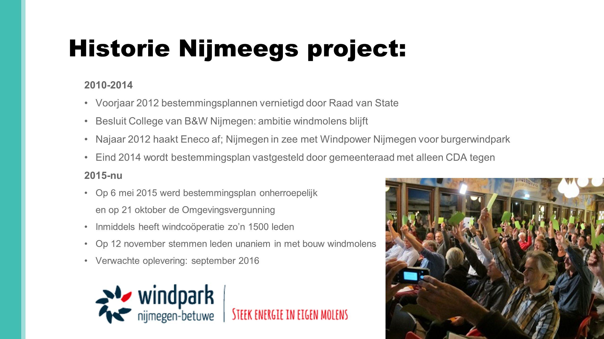 Historie Nijmeegs project: