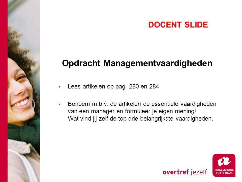 Opdracht Managementvaardigheden