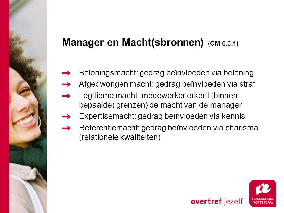 Manager en Macht(sbronnen) (OM 6.3.1)