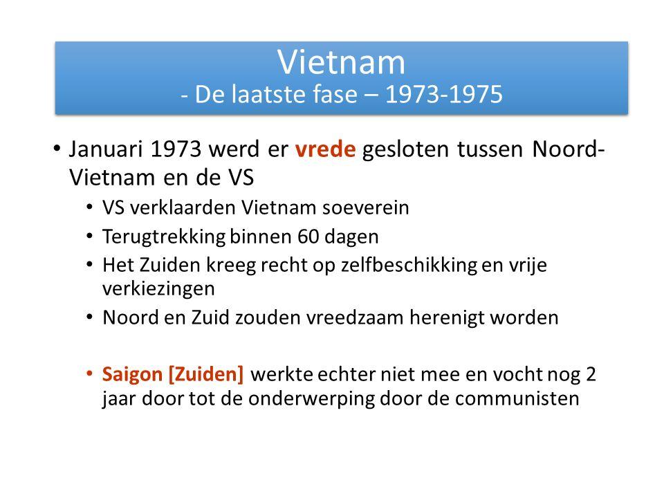 Vietnam - De laatste fase – 1973-1975