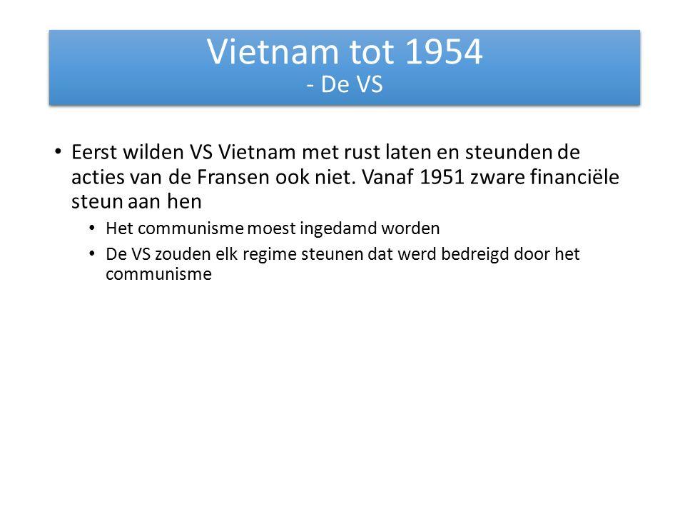 Vietnam tot 1954 - De VS.