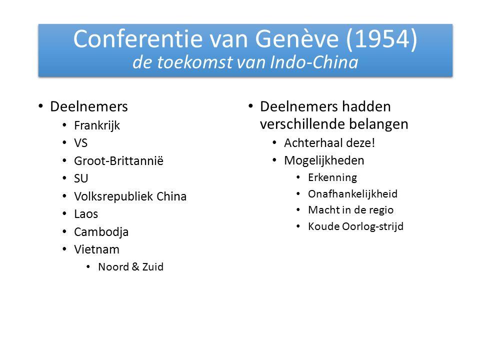 Conferentie van Genève (1954) de toekomst van Indo-China
