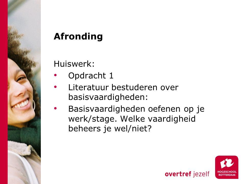 Afronding Huiswerk: Opdracht 1