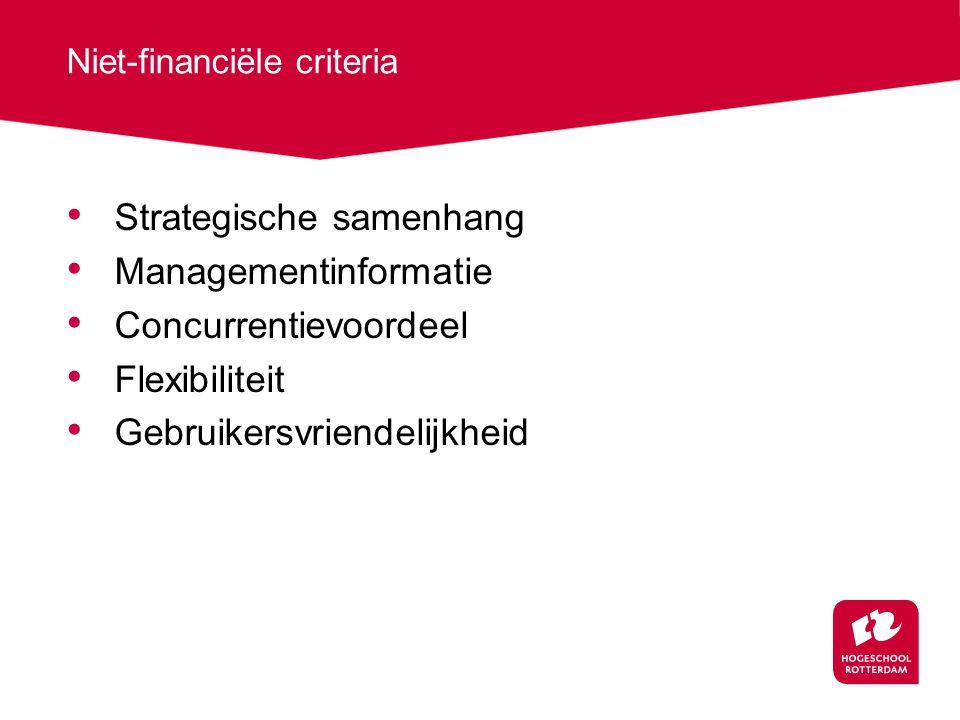 Niet-financiële criteria