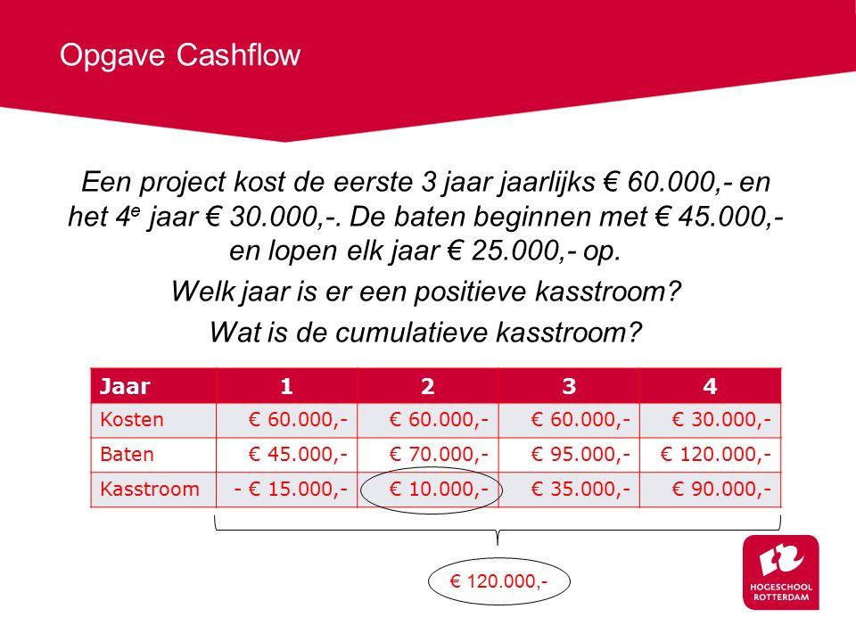 Opgave Cashflow