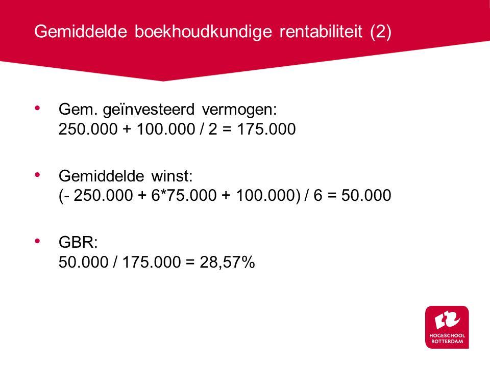 Gemiddelde boekhoudkundige rentabiliteit (2)