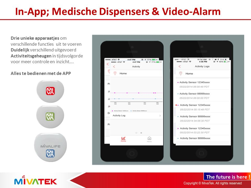 In-App; Medische Dispensers & Video-Alarm