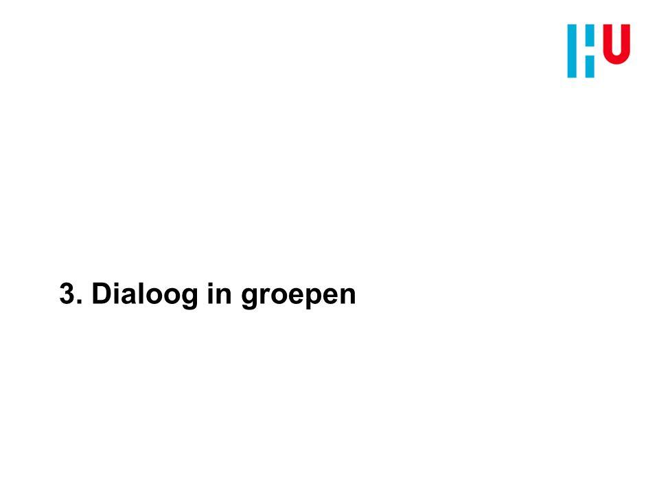 3. Dialoog in groepen