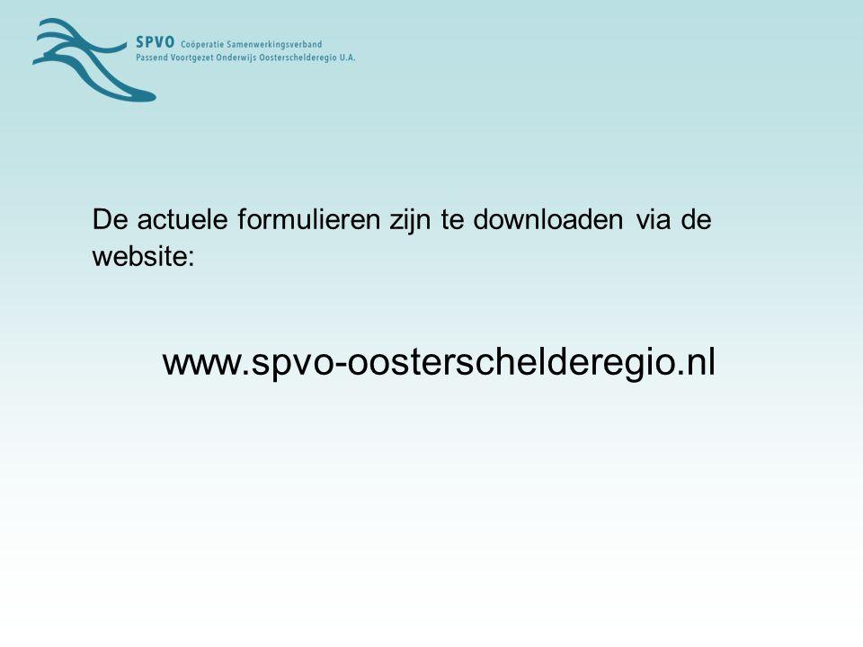De actuele formulieren zijn te downloaden via de website: