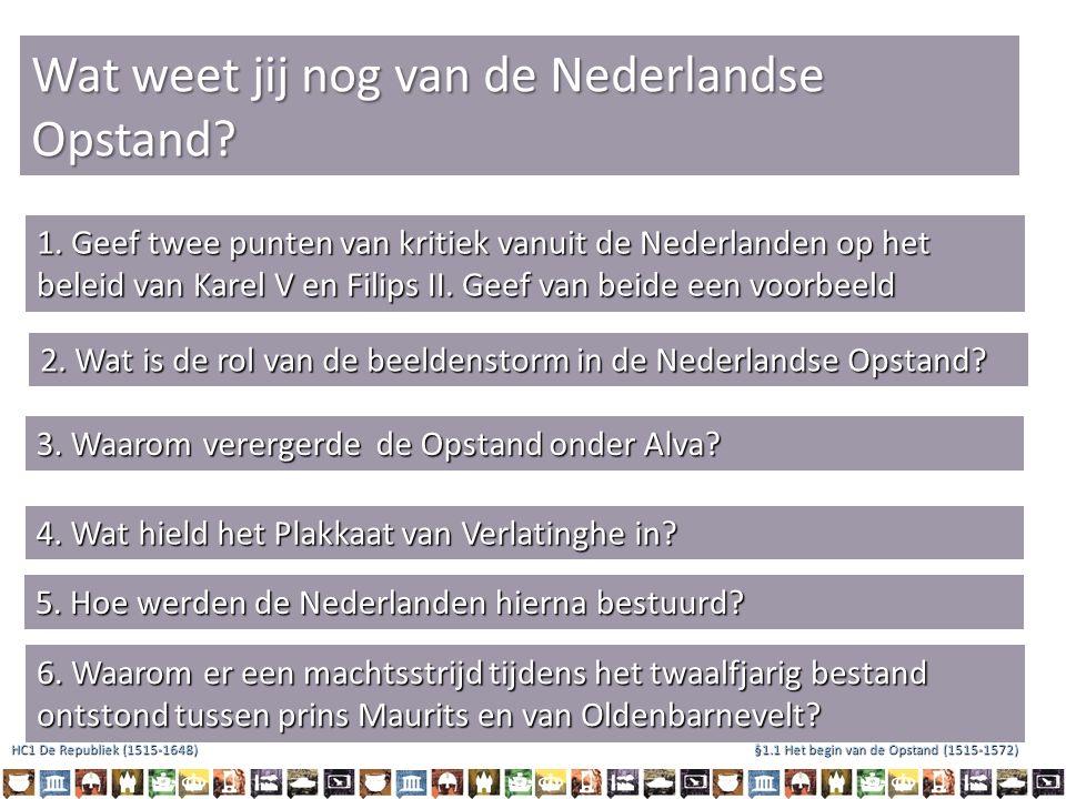 Wat weet jij nog van de Nederlandse Opstand