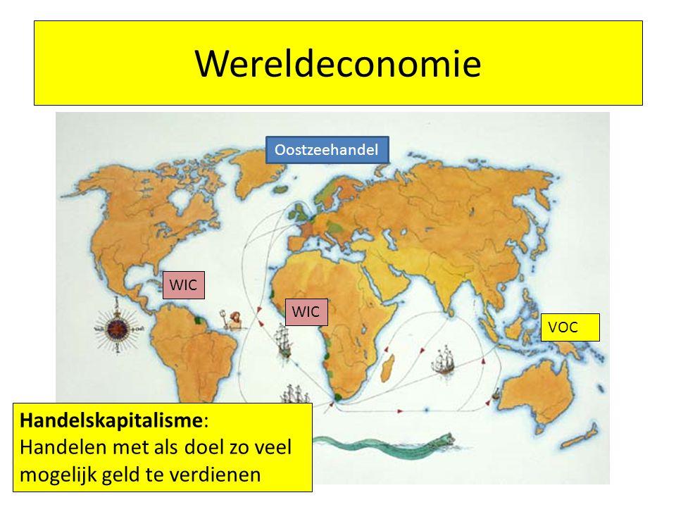 Wereldeconomie Handelskapitalisme: Handelen met als doel zo veel