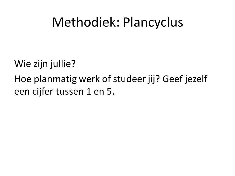 Methodiek: Plancyclus