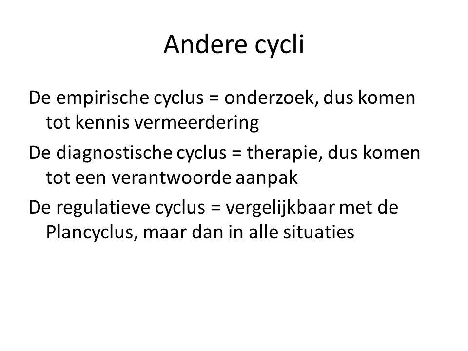 Andere cycli