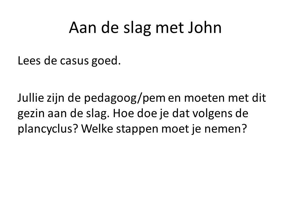 Aan de slag met John