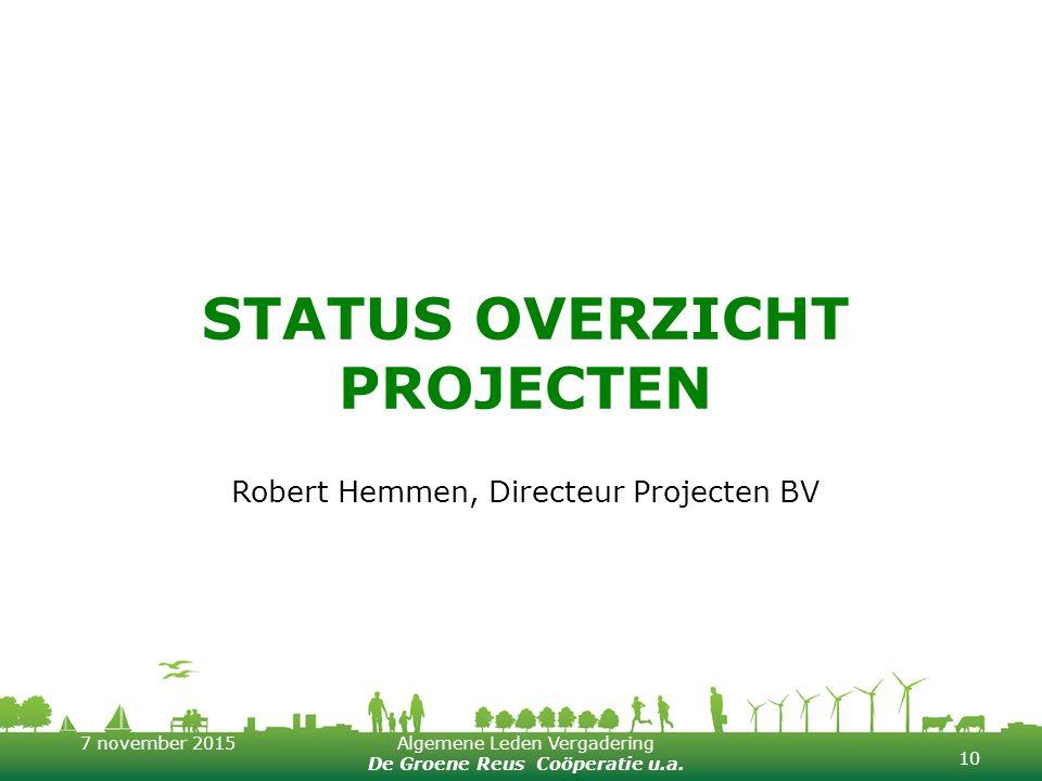 Status overzicht projecten