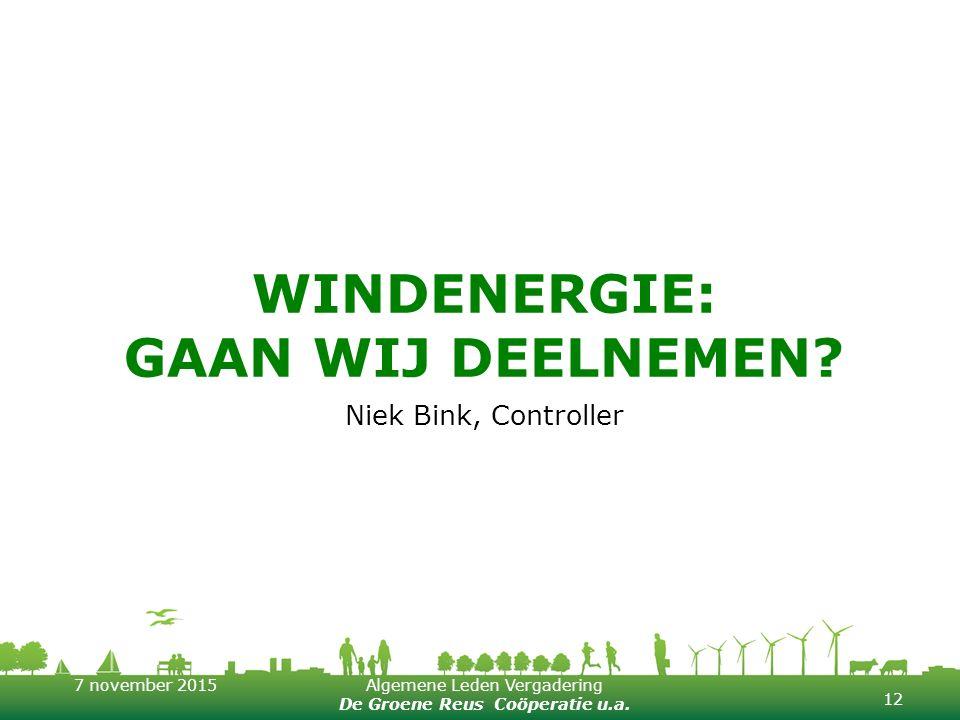 Windenergie: Gaan wij deelnemen