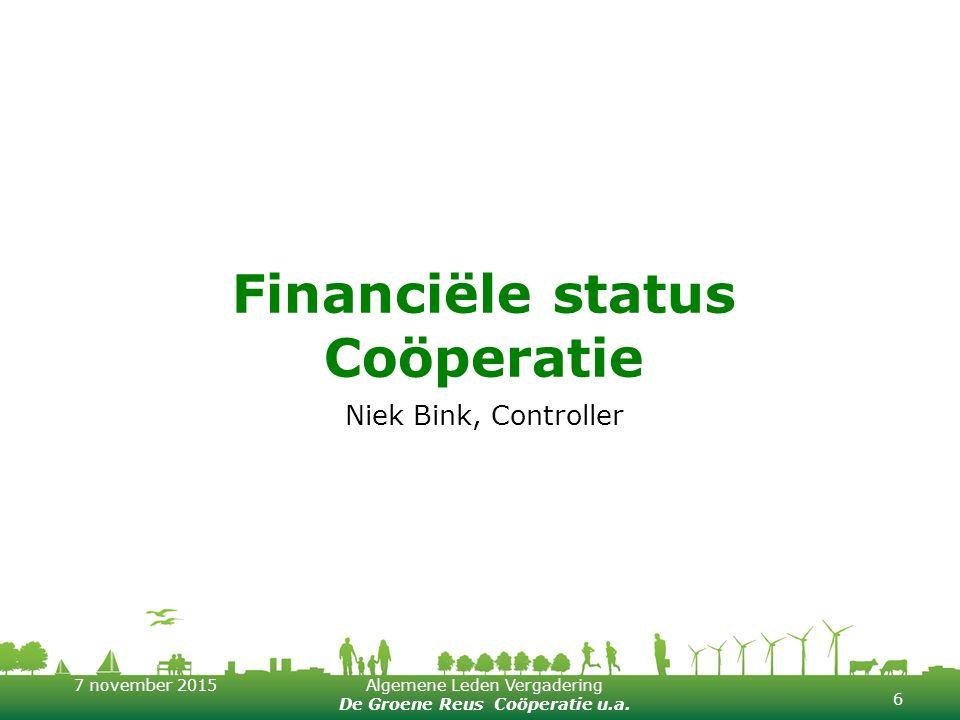 Financiële status Coöperatie