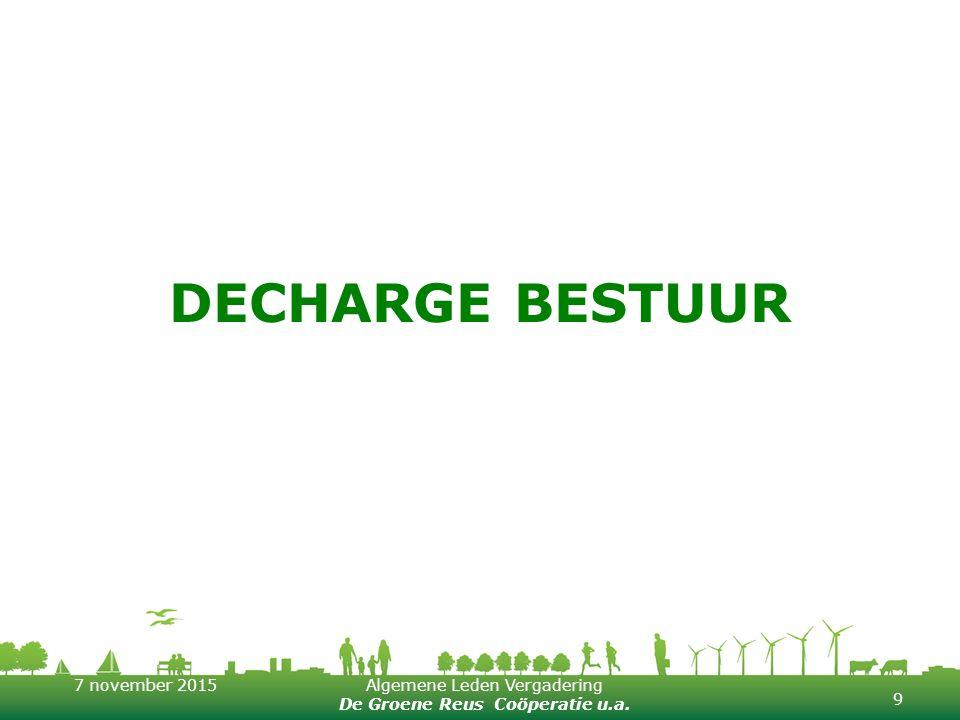 Decharge bestuur
