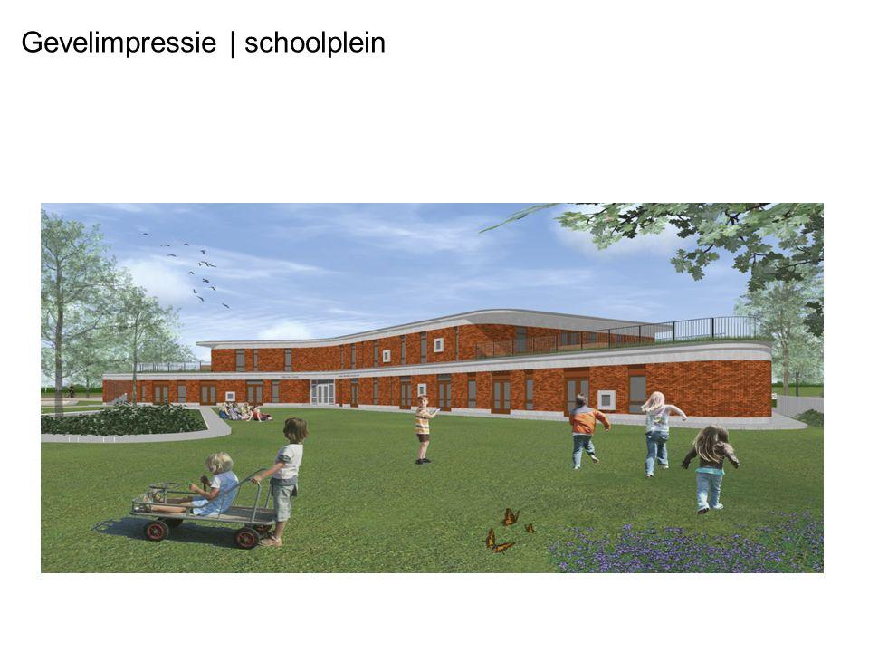 Gevelimpressie | schoolplein