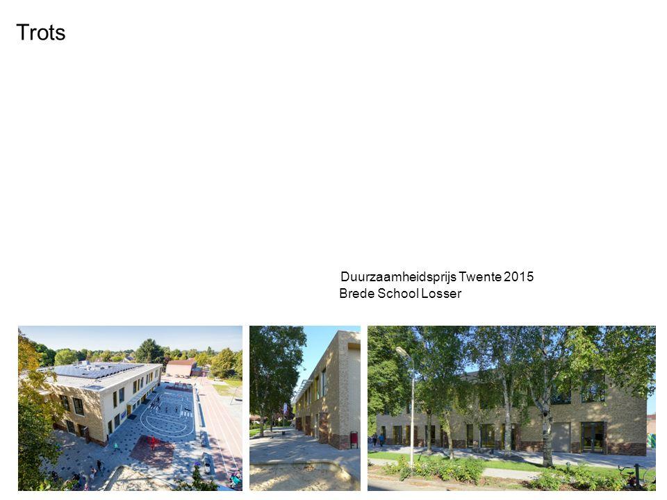 Trots Duurzaamheidsprijs Twente 2015 Brede School Losser