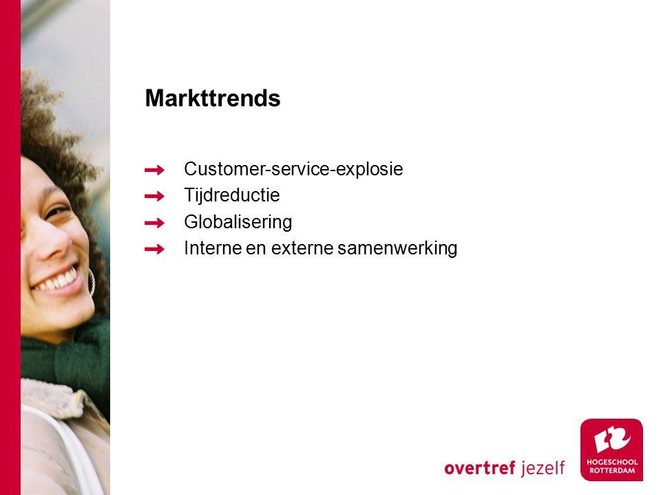 Markttrends Customer-service-explosie Tijdreductie Globalisering