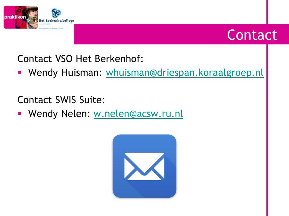 Contact Contact VSO Het Berkenhof: