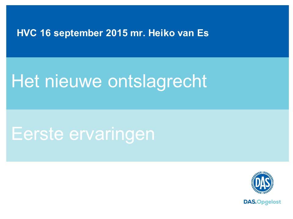 HVC 16 september 2015 mr. Heiko van Es