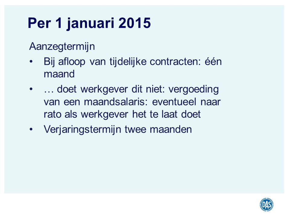 Per 1 januari 2015 Aanzegtermijn