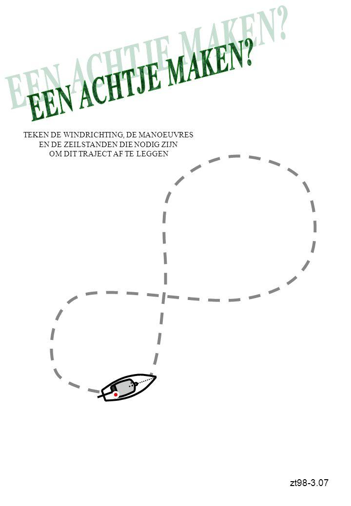 EEN ACHTJE MAKEN zt98-3.07 TEKEN DE WINDRICHTING, DE MANOEUVRES