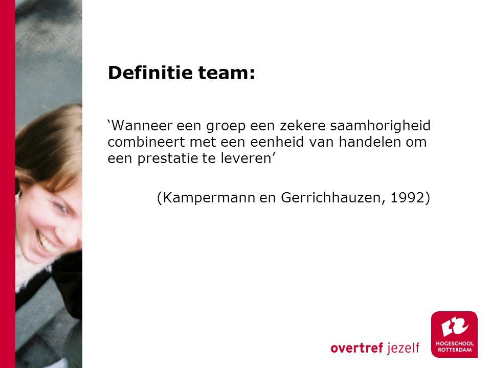 Definitie team:
