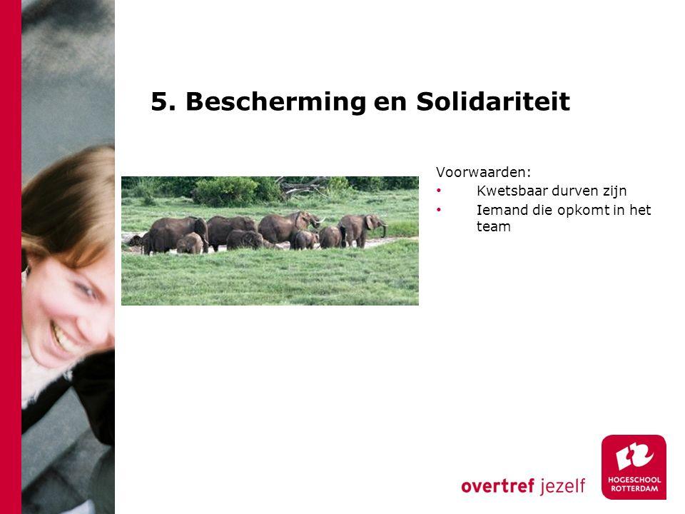 5. Bescherming en Solidariteit