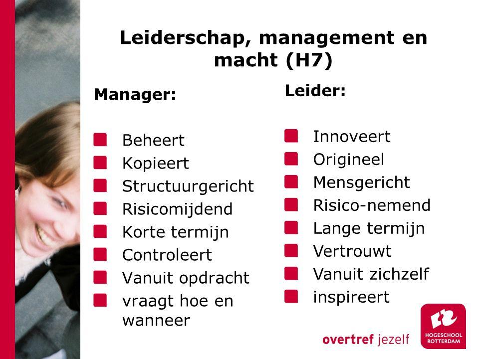 Leiderschap, management en macht (H7)