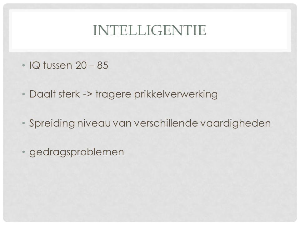 intelligentie IQ tussen 20 – 85