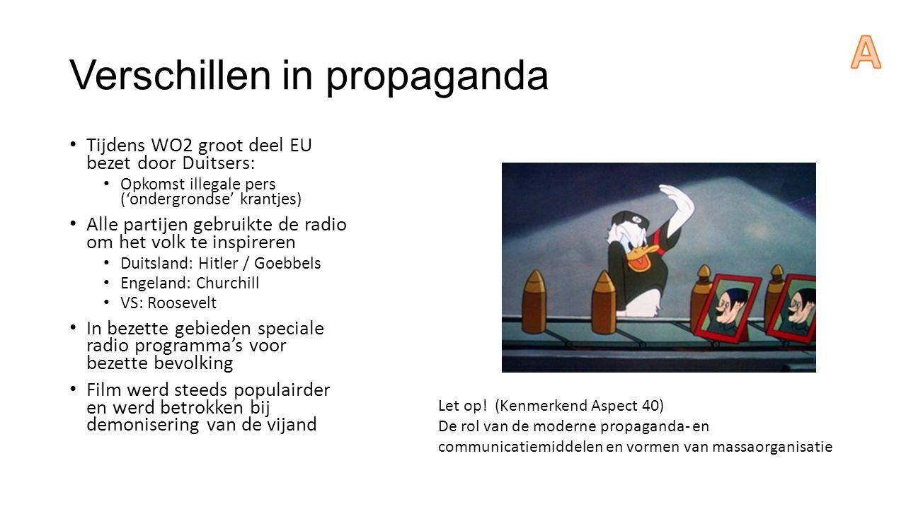 Verschillen in propaganda